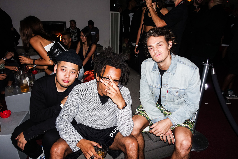 Randy Nakajima, Kurtis Asberry and J-Mac at #NIGHTSWIMDTLA (Oct 1) presented by SUSPEND Magazine, HLZ BLZ, DOPE Fairfax, Ladies First Events, and LOVE+MADE. / Photo: © Randy Nakajima