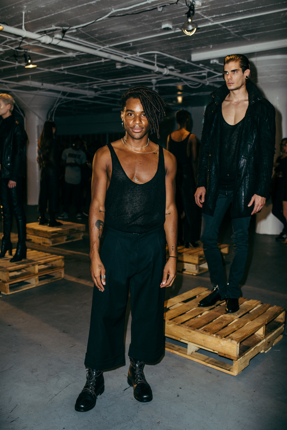 SAV NOIR A/W15 DEBUT IN LOS ANGELES (October 8). / Photo: © Diane Abapo for SUSPEND Magazine