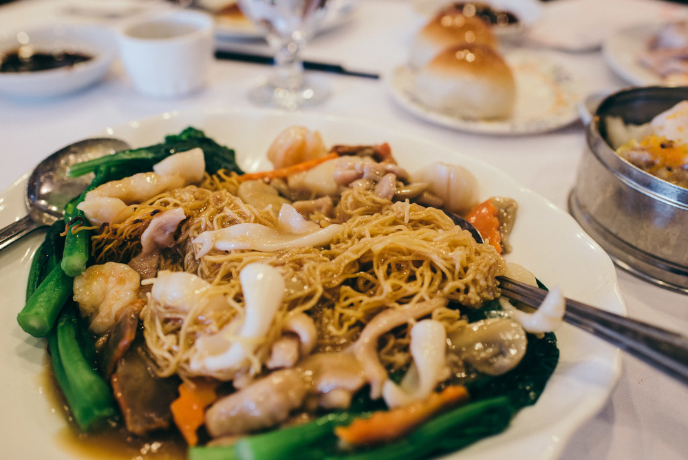 GIMFS: Ocean Seafood in Chinatown. House Special (crispy) Chow Mein. / Photo: © Diane Abapo for SUSPEND Magazine