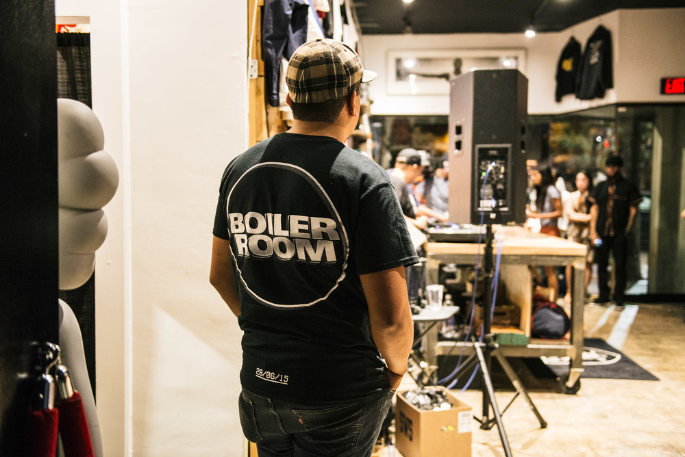 "Boiler Room presents ""Mystery Crates"" with DJ Babu and DJ Nu-Mark at Tried & True Co. (Oct 9). / Photo: © Diane Abapo for SUSPEND Magazine"