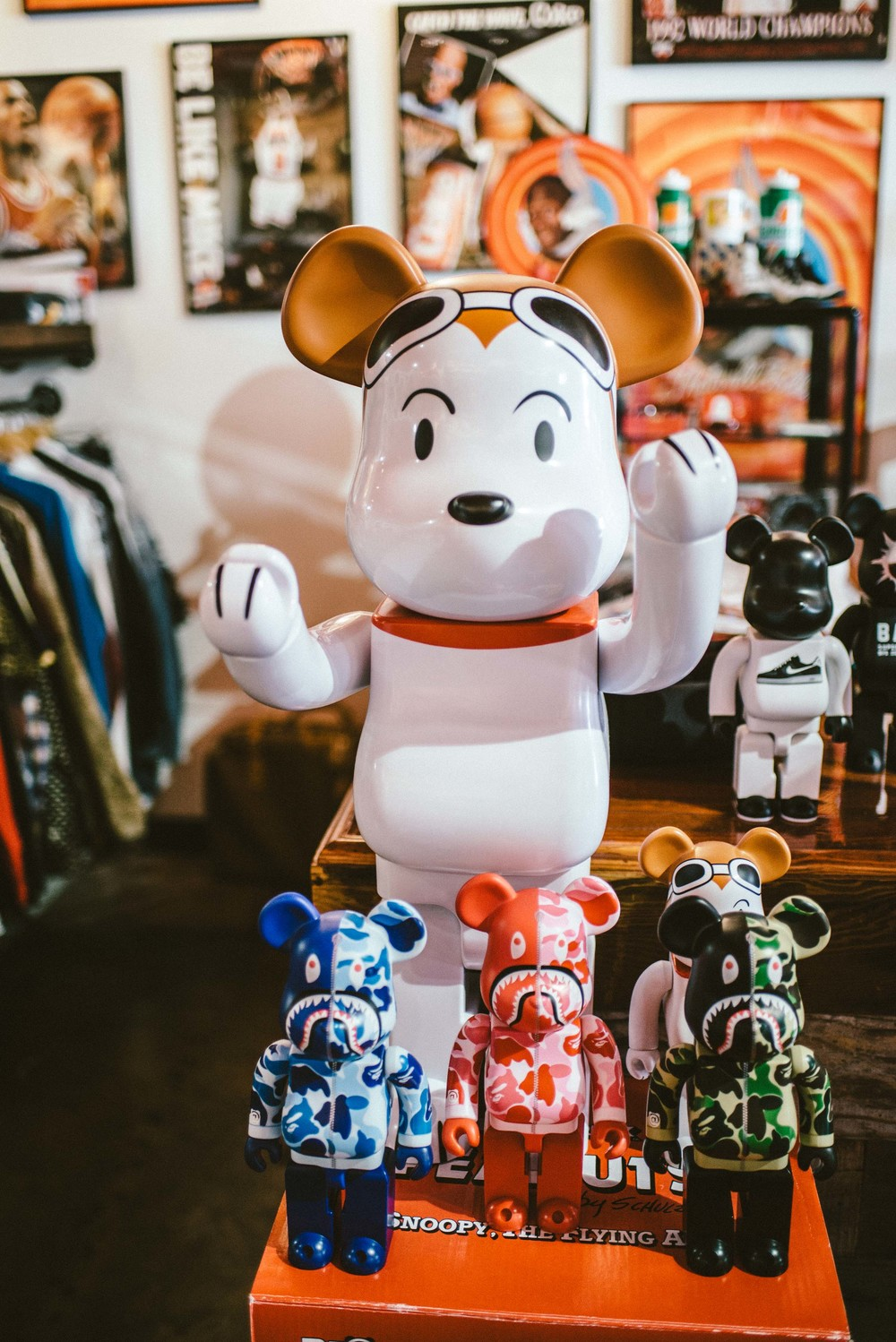 Bearbricks for sale at Round Two Hollywood on Melrose Ave. / Photo: © Diane Abapo for SUSPEND Magazine