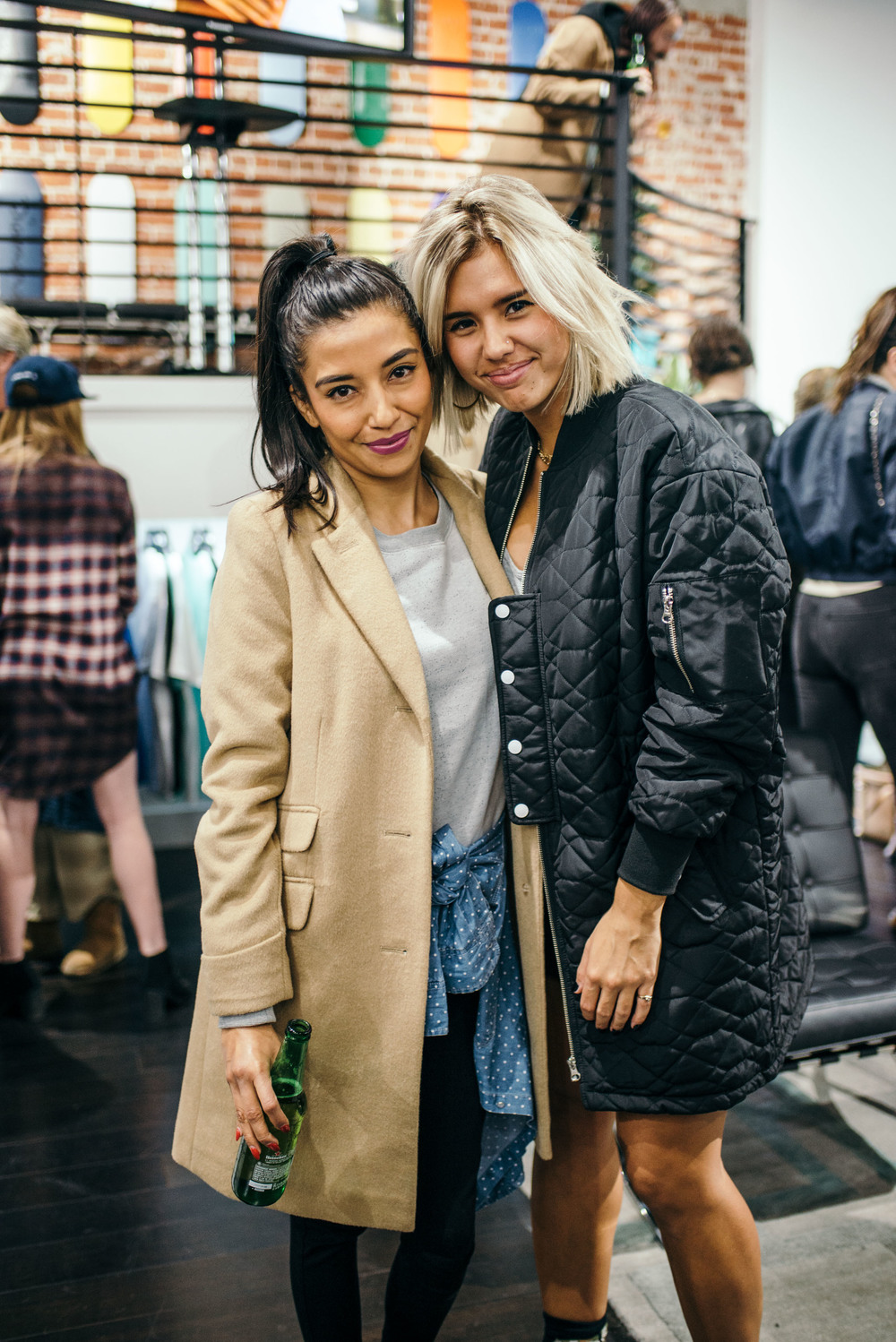 Guest with Jada Zieg (right) at the Diamond Womens Launch at Diamond Supply on Fairfax (Nov 13). / Photo: © Diane Abapo for SUSPEND Magazine.