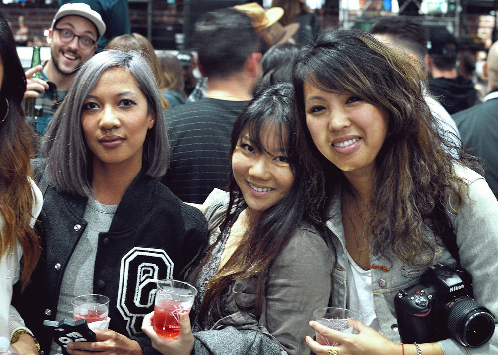 (L-R): Fashion Editor Leslie, Christy J. Kim and EIC Diane Abapo at the Diamond Supply on Fairfax (Nov 13). / Photo: © Arthur W. Booker IV for SUSPEND Magazine.
