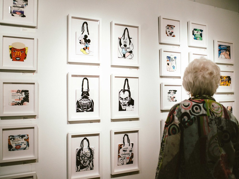 "Ben Frost, ""Just One Fix"" showcasing at Vertical Gallery at Aqua Art Miami. / Photo: © Diane Abapo for SUSPEND Magazine."