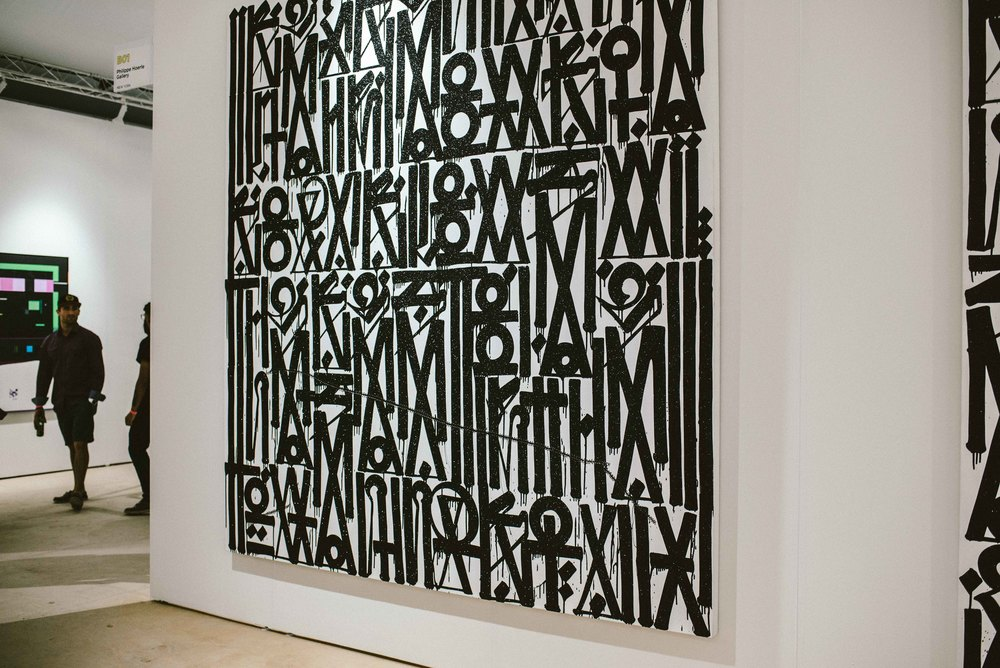 Retna at Scope Art Fair 2015. / Photo: © Diane Abapo for SUSPEND Magazine.