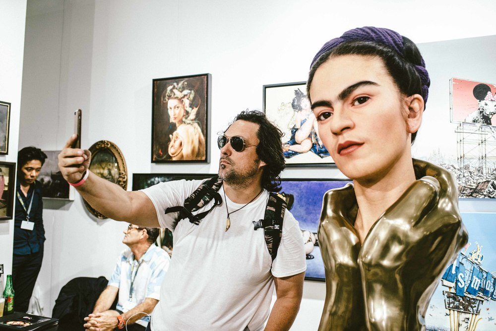 'Frida Kahlo,' by Kazuhiro Tsuji at Scope Art Fair 2015. / Photo: © Diane Abapo for SUSPEND Magazine.