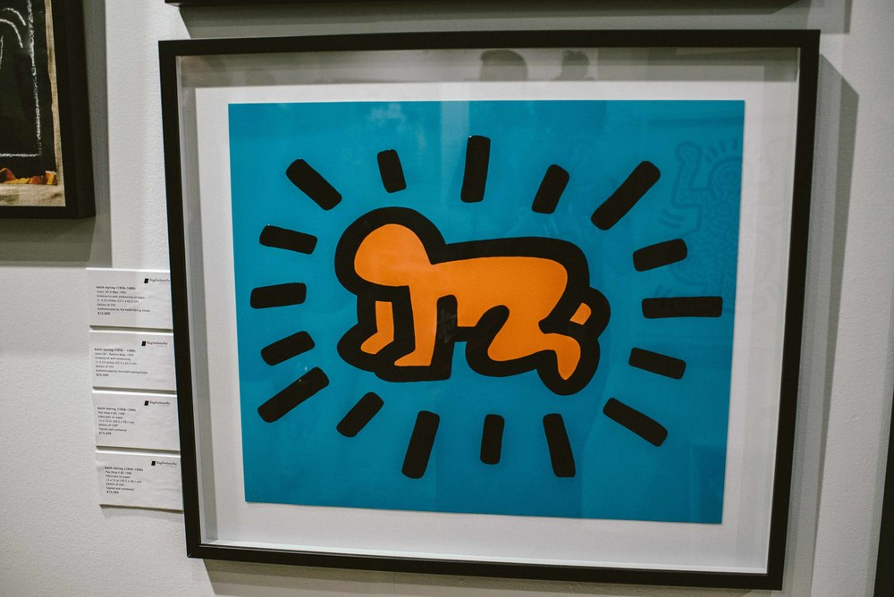 Keith Haring at Scope Art Fair 2015. / Photo: © Diane Abapo for SUSPEND Magazine.