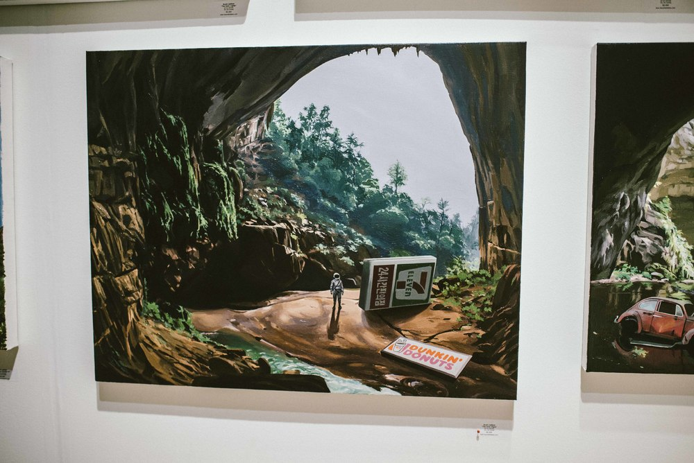 """The Cave: Signs"" by Scott Listfield ($2,500) at Scope Art Fair 2015. / Photo: © Diane Abapo for SUSPEND Magazine."