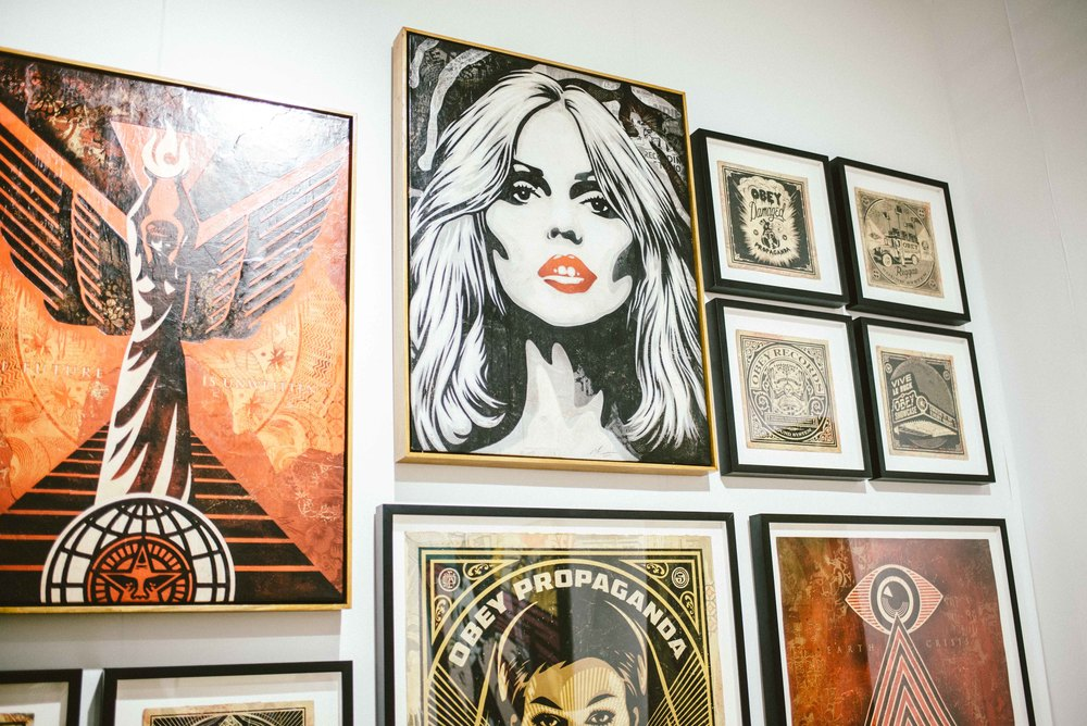 Shepard Fairey at Scope Art Fair 2015. / Photo: © Diane Abapo for SUSPEND Magazine.