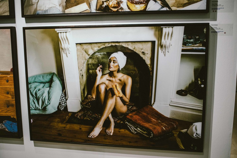 "Mika Gallery presenting Sarah Bahbah's ""Sex & Takeout"" photo series at Scope Art Fair (Dec 5) / Photo: © Diane Abapo for SUSPEND Magazine."