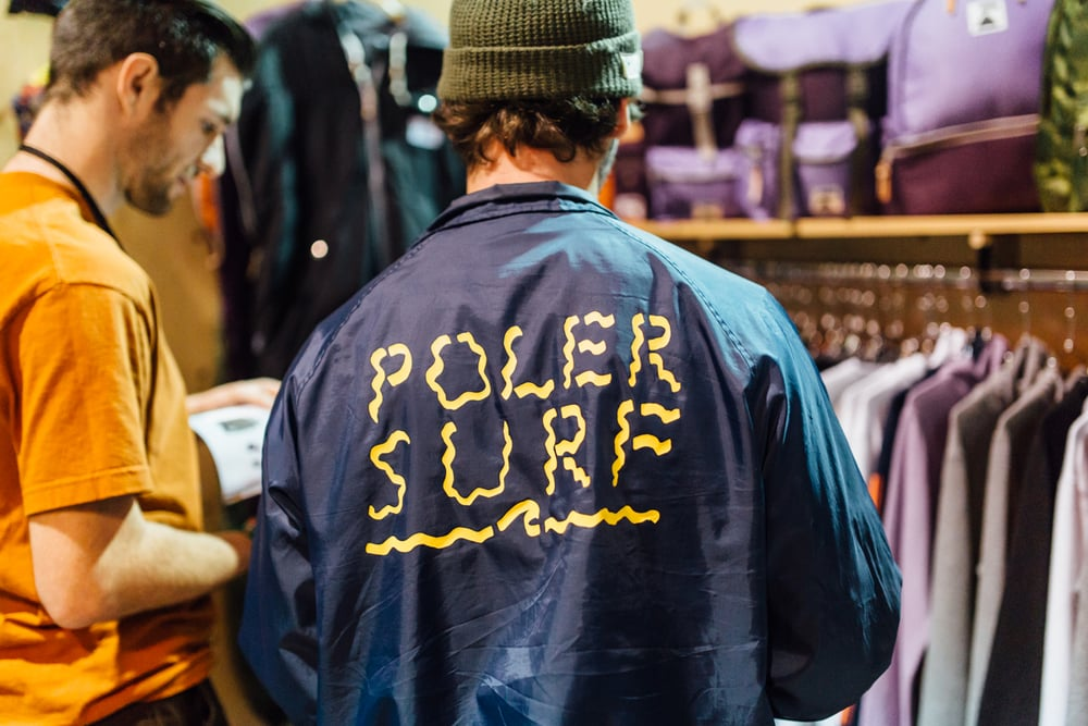 Poler at Agenda Long Beach. / Photo: © Kayla Reefer for SUSPEND Magazine.