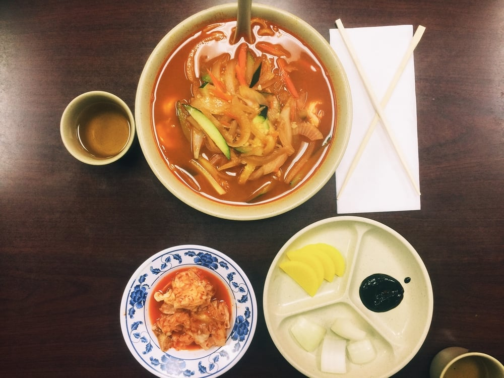 Jjampong, the seafood noodle goodness. Photograph © Hannah R.J.A. Song / SUSPEND Magazine