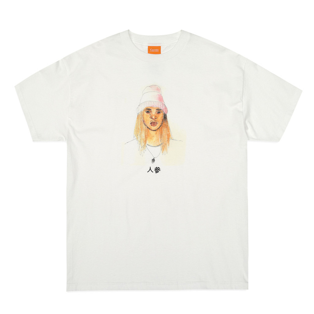 "CARROTS BY ANWAR CARROTS, ""TOXGO / ANWAR PORTRAIT BY STELLA"" TEE. Available here."