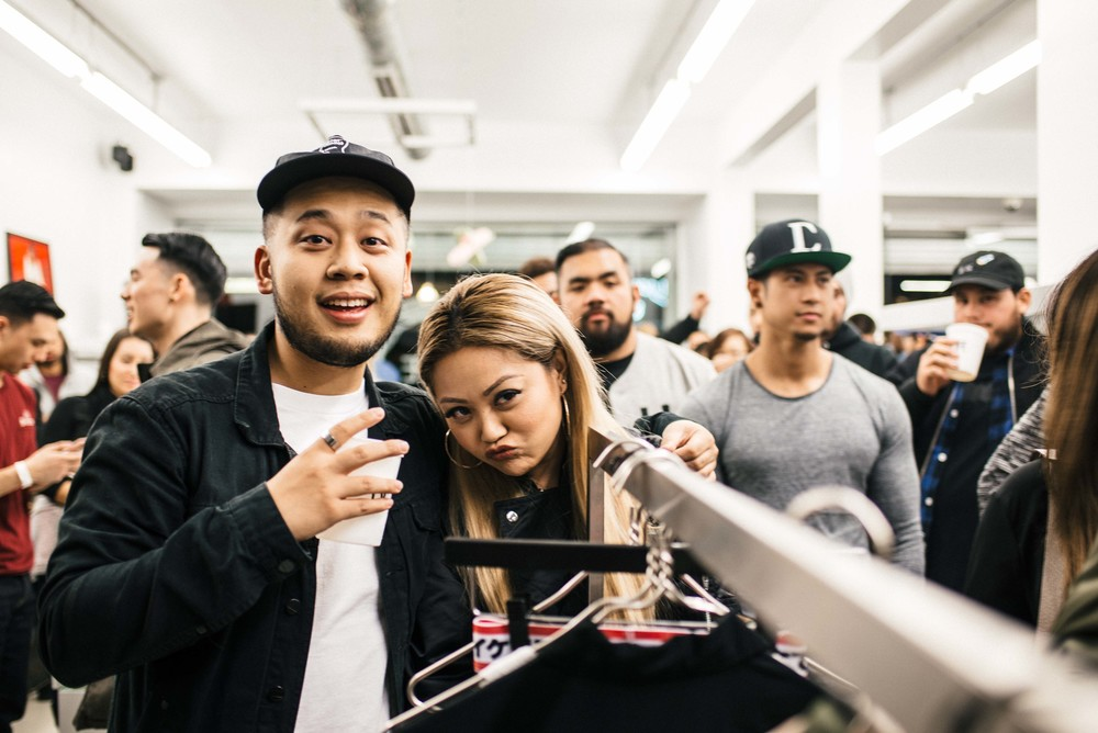 Sandalboyz Launch at Dope Fairfax (Jan 22). Pictured: Designer Bana Bongolan. / Photo: © Diane Abapo for SUSPEND Magazine.