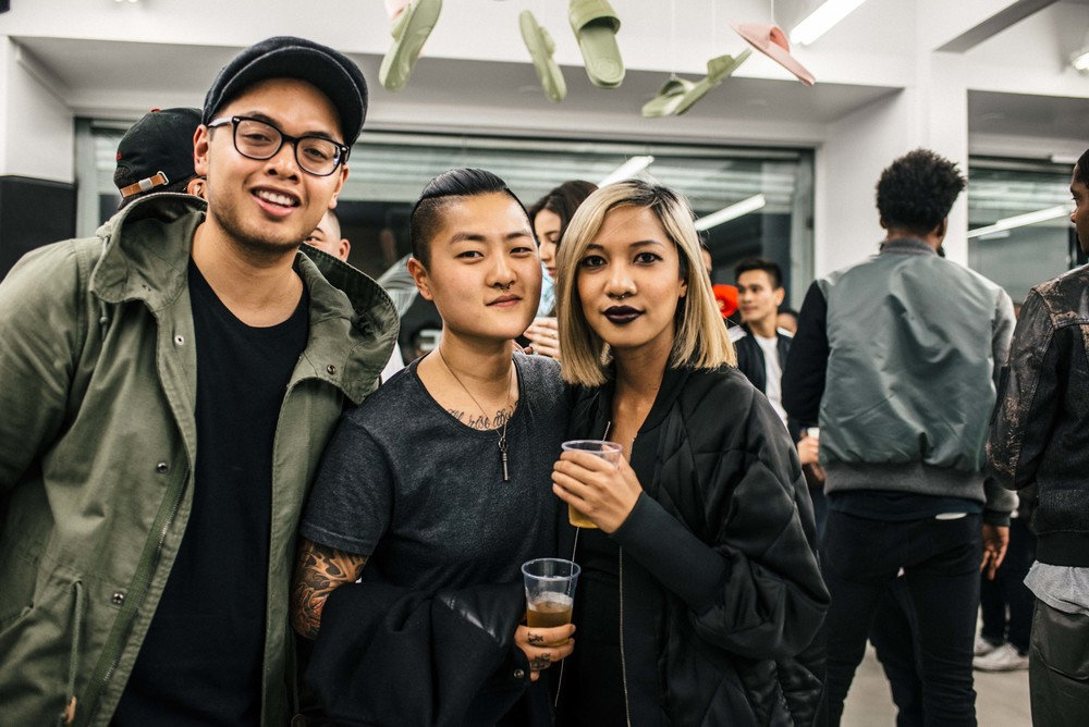 Sandalboyz Launch at Dope Fairfax (Jan 22). Pictured: Louis De Guzman, Jeanna Han, and Leslie Corpuz. / Photo: © Diane Abapo for SUSPEND Magazine.
