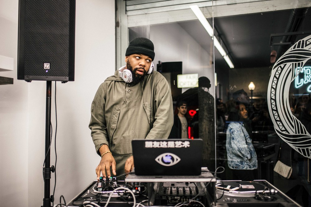 Sandalboyz Launch at Dope Fairfax (Jan 22). Pictured: Andre Power of Soulection. / Photo: © Diane Abapo for SUSPEND Magazine.