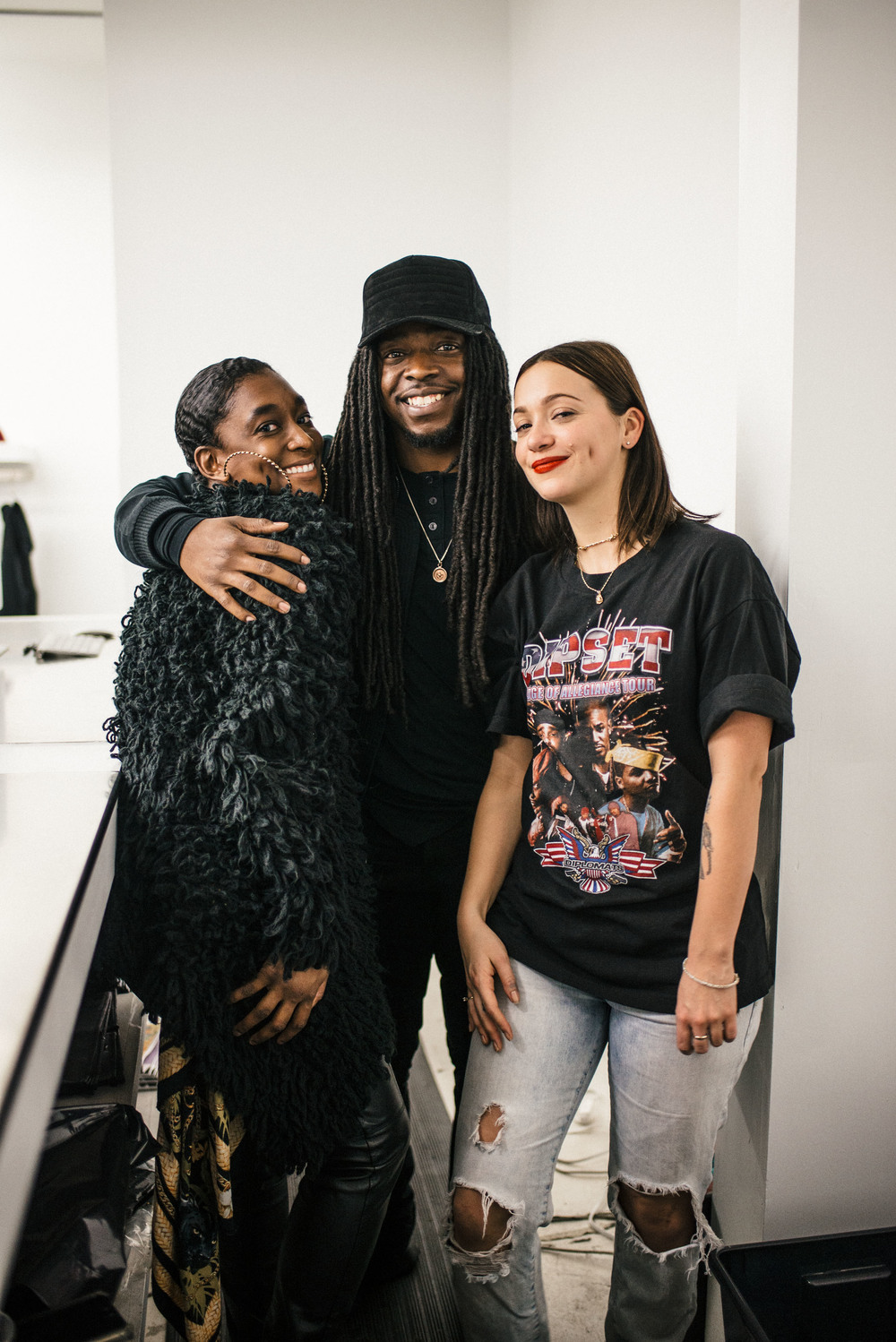 Sandalboyz Launch at Dope Fairfax (Jan 22). Pictured: Charlotte Upshaw, Dell Hopkins, and Bliss Evans. / Photo: © Diane Abapo for SUSPEND Magazine.