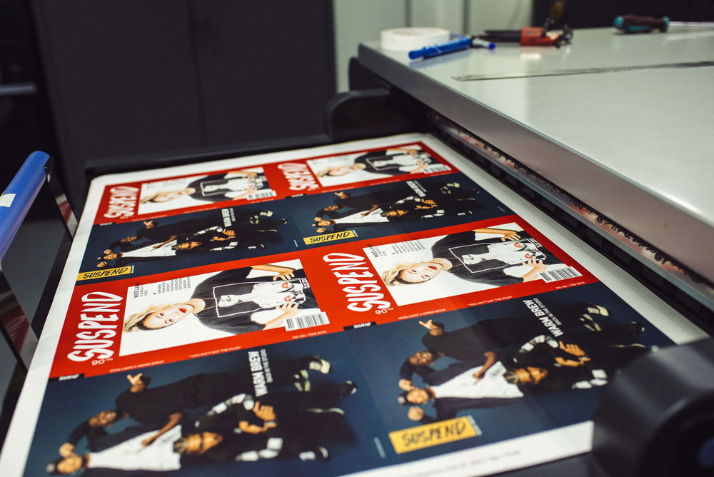 Behind-the-scenes of the printing process for SUSPEND Magazine ISSUE 06. / Photo: © Diane Abapo