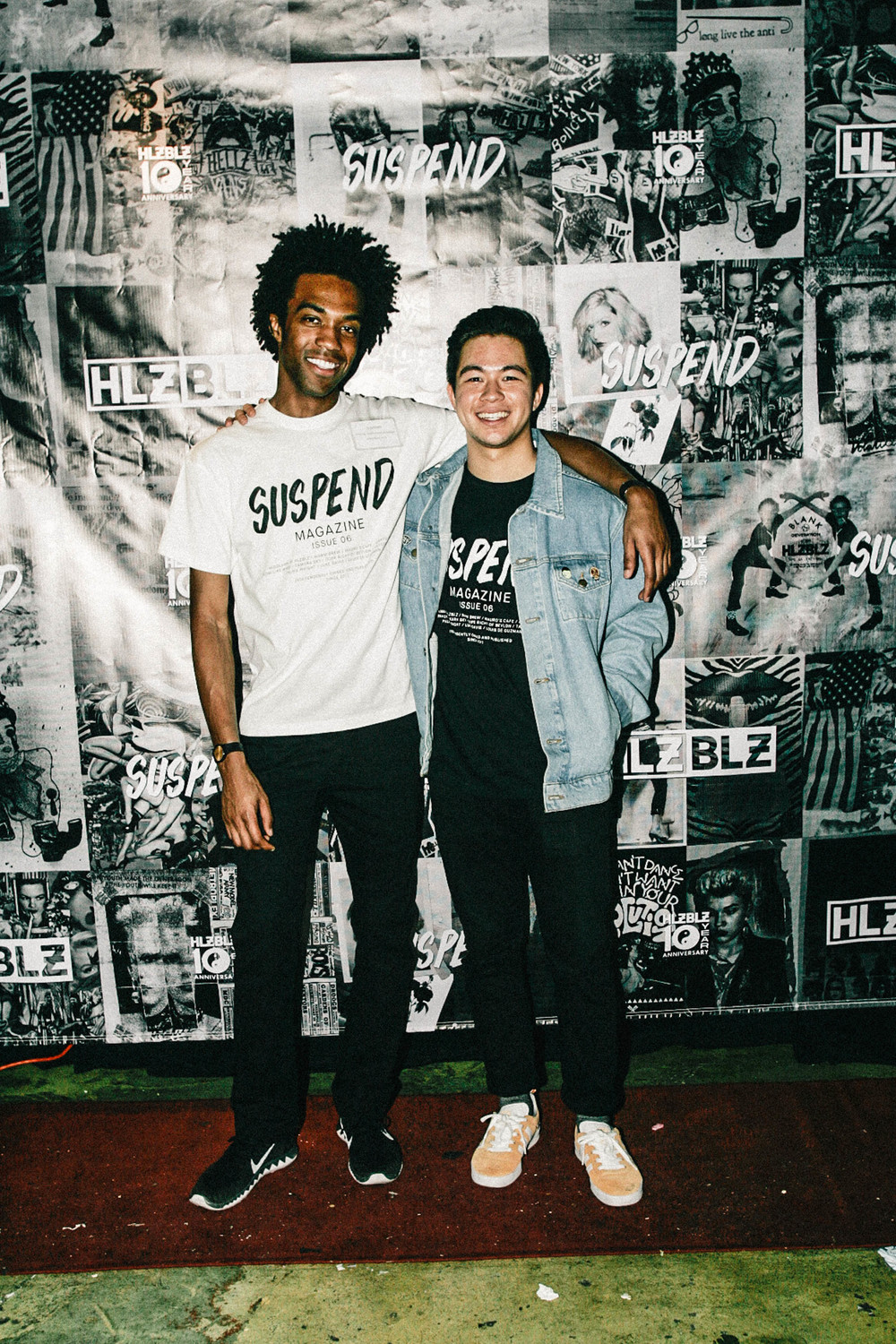 Jonathan Tate and Brennan de Aguirre of SUSPEND at the ISSUE 06 Release Party x 10YR HLZBLZ Anniversary (Feb 11) at Globe Theater.