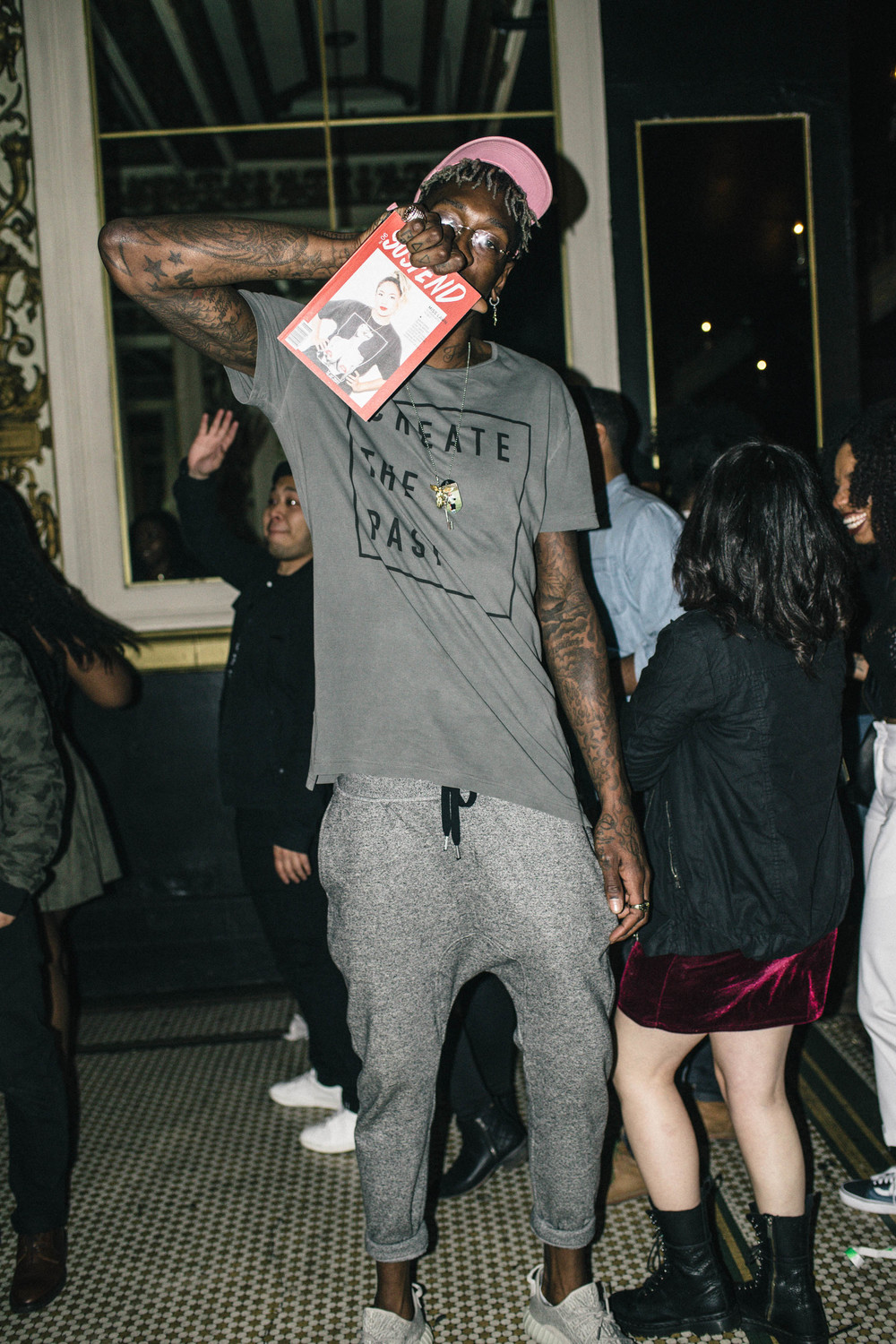 Larry Sanders at the ISSUE 06 Release Party x 10YR HLZBLZ Anniversary (Feb 11) at Globe Theater. / Photo: © Jonathan Tate for SUSPEND Magazine.