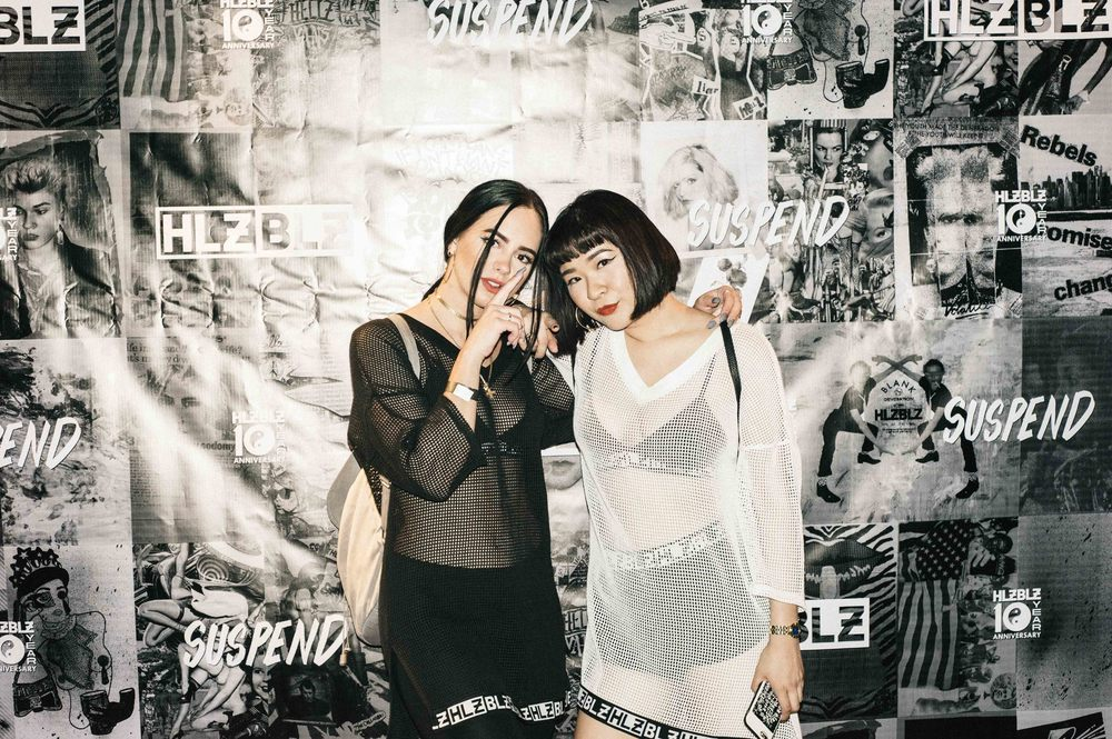 Tina and Ashley Chen of HLZBLZ at the ISSUE 06 Launch x HLZBLZ 10Year Anniversary (Feb 11) at Globe Theater. / Photo: © Jordan Abapo for SUSPEND Magazine