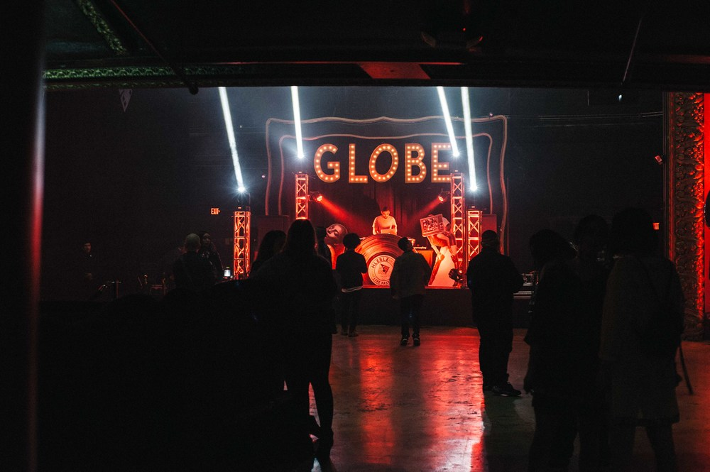 Center stage at Globe Theater at the ISSUE 06 Launch x HLZBLZ 10Year Anniversary (Feb 11). / Photo: © Jordan Abapo for SUSPEND Magazine