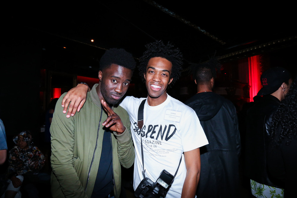 Blaison Maven and Jon Tate at the ISSUE 06 Release Party x HLZBLZ 10-Year Anniversary (Feb 11). / Photo: © Angella Choe for SUSPEND Magazine
