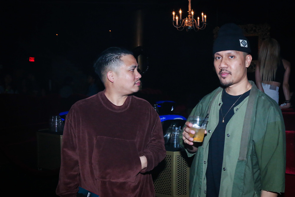 Bam Barcena and Emil Soriano of Crooks & Castles at the ISSUE 06 Release Party x HLZBLZ 10-Year Anniversary (Feb 11). / Photo: © Angella Choe for SUSPEND Magazine