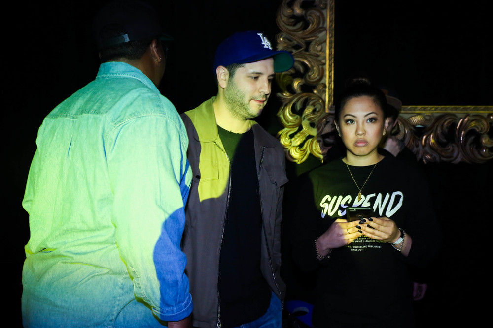 Ryan Rodriguez of Fakework and EIC Diane Abapo at the ISSUE 06 Release Party x HLZBLZ 10-Year Anniversary (Feb 11). / Photo: © Angella Choe for SUSPEND Magazine