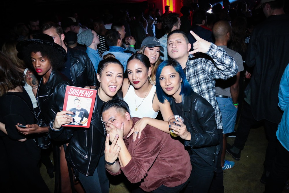 EIC Diane Abapo and Fashion Editor Leslie Corpuz with Miss Lawn and Bam Barcena at the ISSUE 06 Release Party x HLZBLZ 10-Year Anniversary (Feb 11). / Photo: © Angella Choe for SUSPEND Magazine