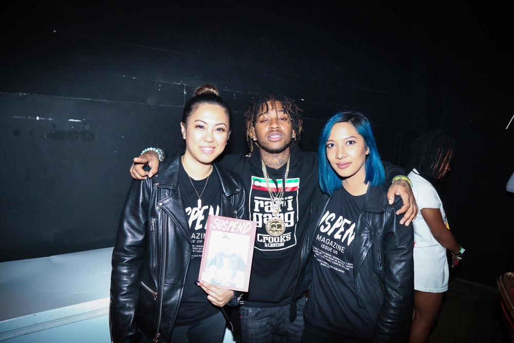 SUSPEND staff with Jose Guapo at the ISSUE 06 Release Party x HLZBLZ 10-Year Anniversary (Feb 11). / Photo: © Angella Choe for SUSPEND Magazine