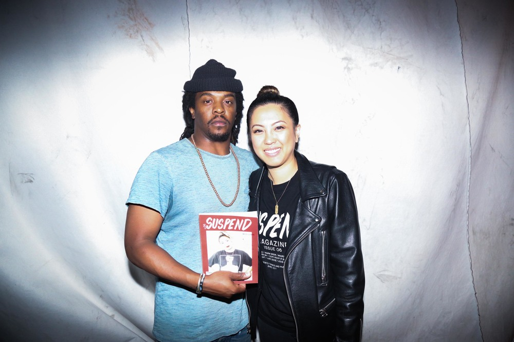 Arthur W. Booker IV with EIC Diane Abapo at the ISSUE 06 Release Party x HLZBLZ 10-Year Anniversary (Feb 11). / Photo: © Angella Choe for SUSPEND Magazine