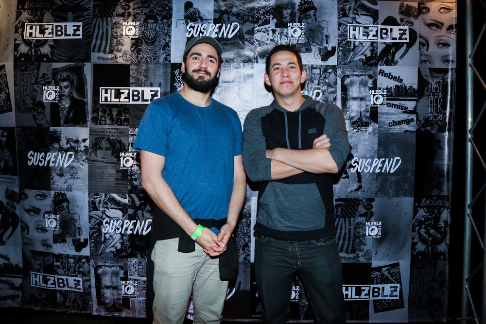 FoodBeast Co-Founders Elie Ayrouth and Geoffrey Kutnick at the ISSUE 06 Release Party x HLZBLZ 10-Year Anniversary (Feb 11). / Photo: © Angella Choe for SUSPEND Magazine