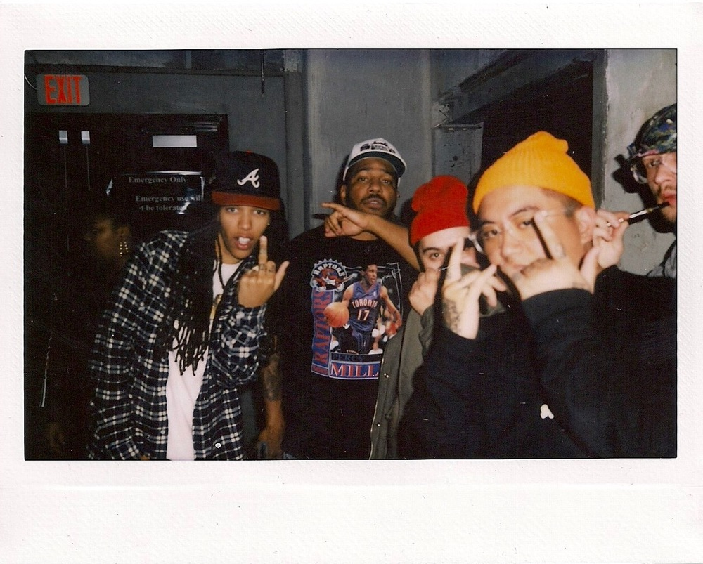 DJ Osh Kosh x Chuck Inglish x Paulo Wallo from Rare Panther x DJ Aux Cord at The Lash (Feb 17). / Photo: © Obi O. at FriendsOnly™