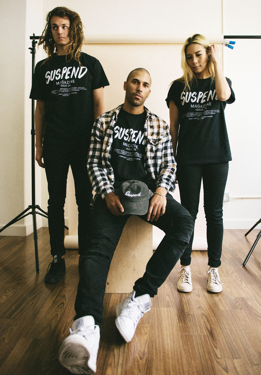 J-Mac, David, and Gilene photographed by EIC Diane Abapo for SUSPEND® Magazine.