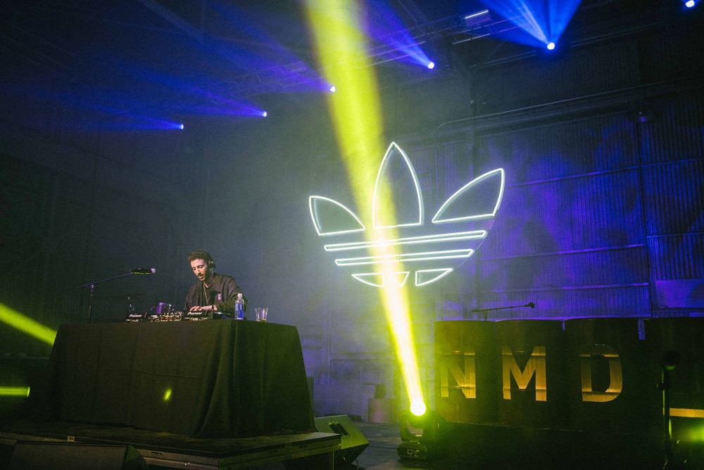 Shlomo performs a special DJ set at the Adidas Originals NMD Event in Los Angeles (March 25). / Photo: © Diane Abapo for SUSPEND Magazine.