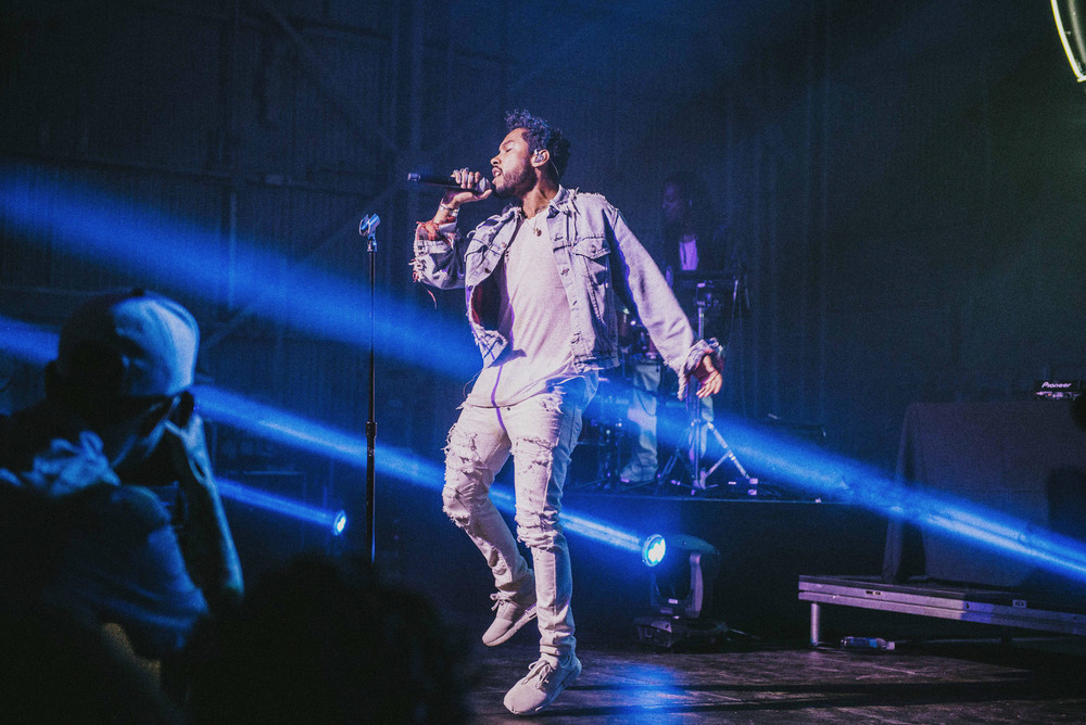 Miguel performs at the Adidas Originals NMD Event in Los Angeles (March 25). / Photo: © Diane Abapo for SUSPEND Magazine.