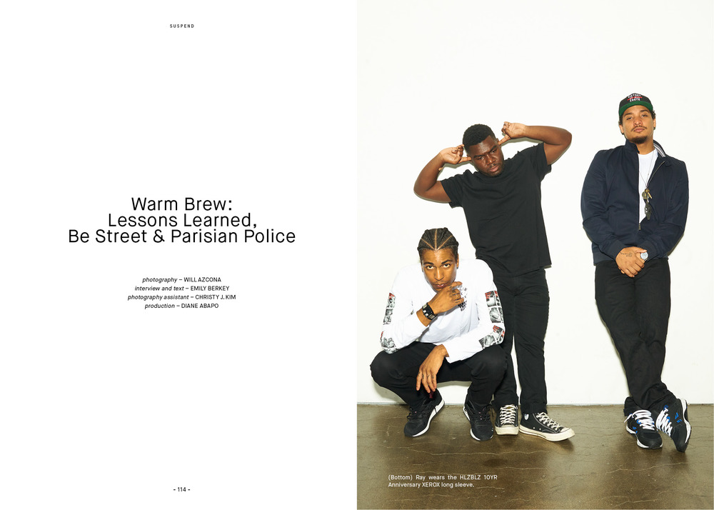 Warm Brew photographed by Will Azcona for ISSUE 06 of SUSPEND Magazine.