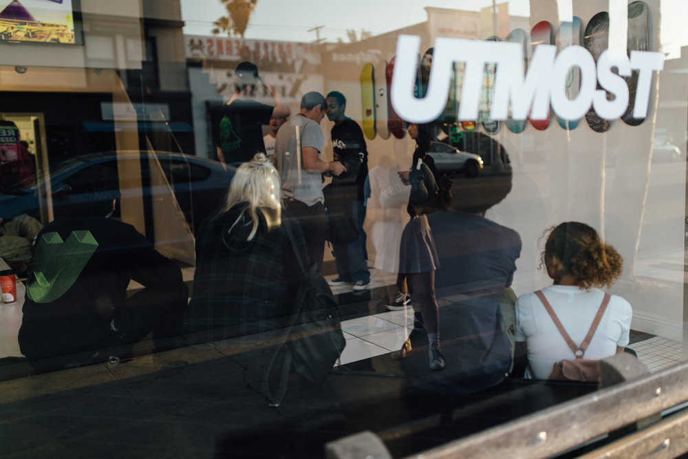 Utmost Co. Pop-Up on Melrose Ave (April 1). / Photo: © Kayla Reefer for SUSPEND Magazine.