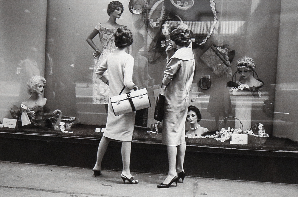1957, Women Window Shopping (Modern gelatin silver print) by Vivian Maier.