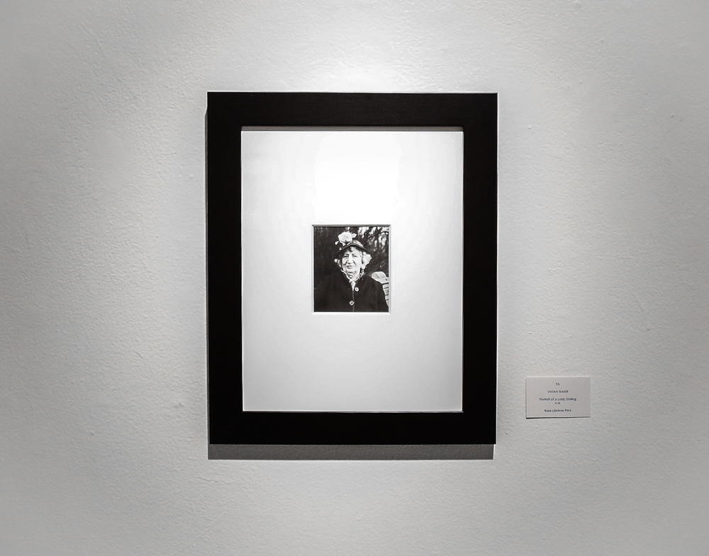 Portrait of a Lady Smiling (Rare Lifetime Print) by Vivian Maier.