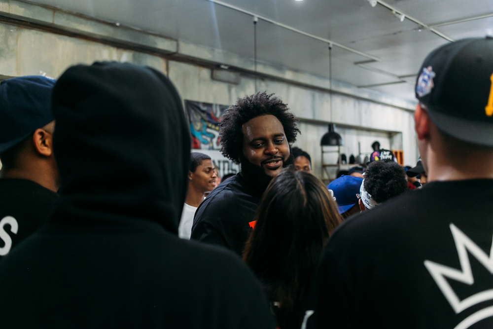 Bas meet-n-greet at FIENDSHOP LA (April 2) on Melrose. / Photo: © Kayla Reefer for SUSPEND Magazine