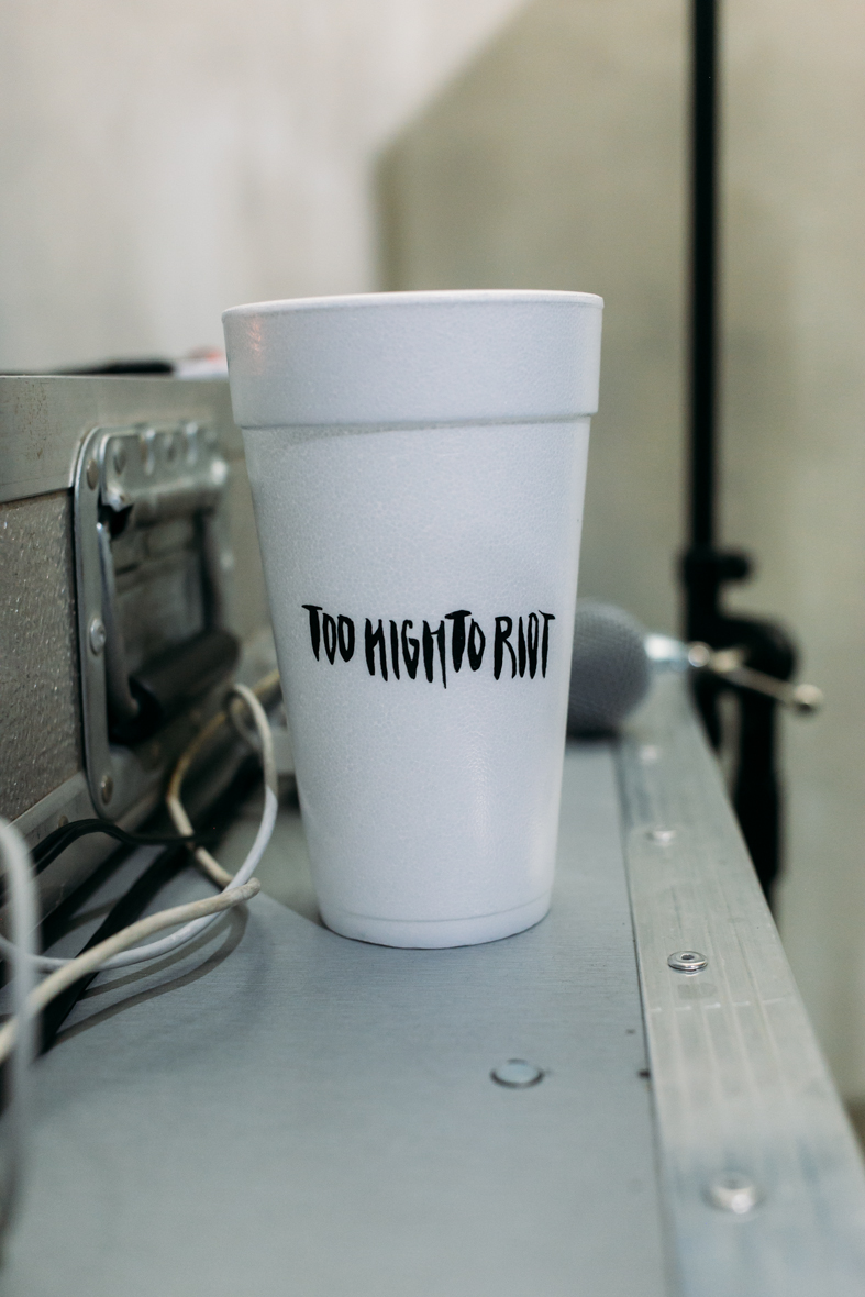 Too High to Riot commemorative cups at FIENDSHOP LA (April 2) on Melrose. / Photo: © Kayla Reefer for SUSPEND Magazine