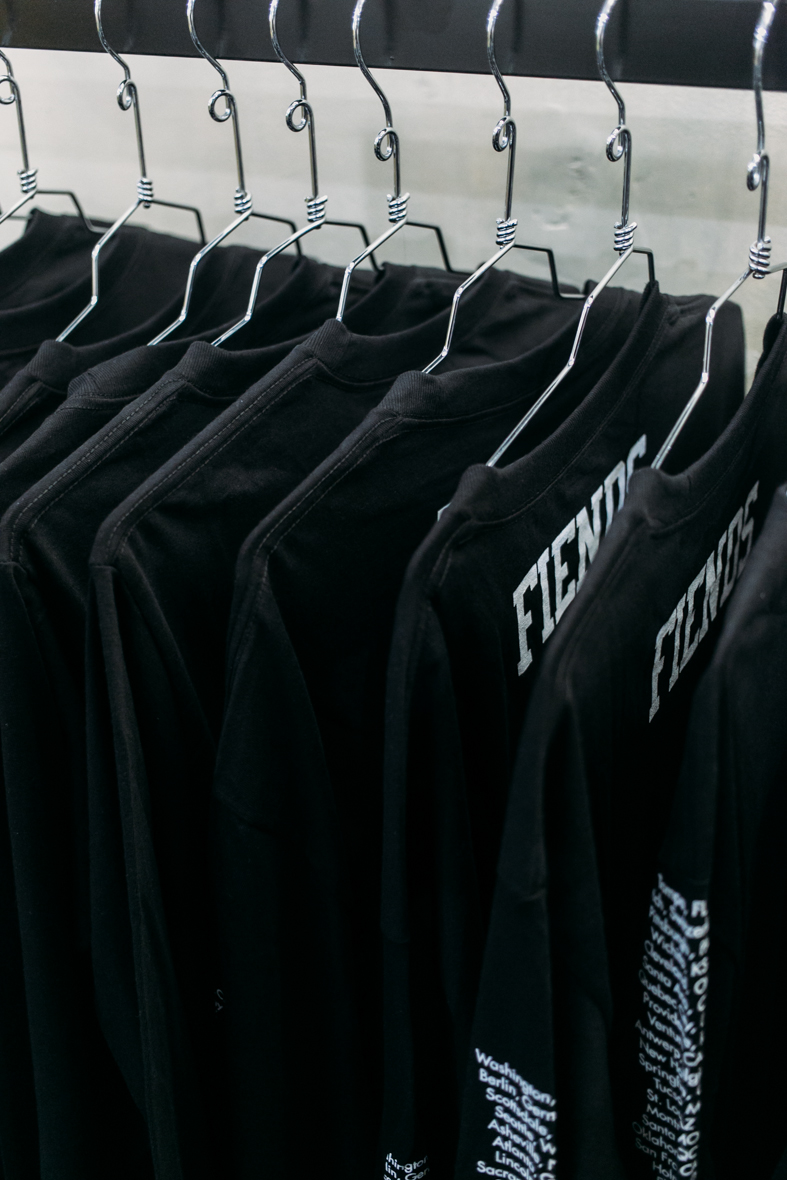 Everybody Fiends sweatshirt at FIENDSHOP LA (April 2) on Melrose. / Photo: © Kayla Reefer for SUSPEND Magazine