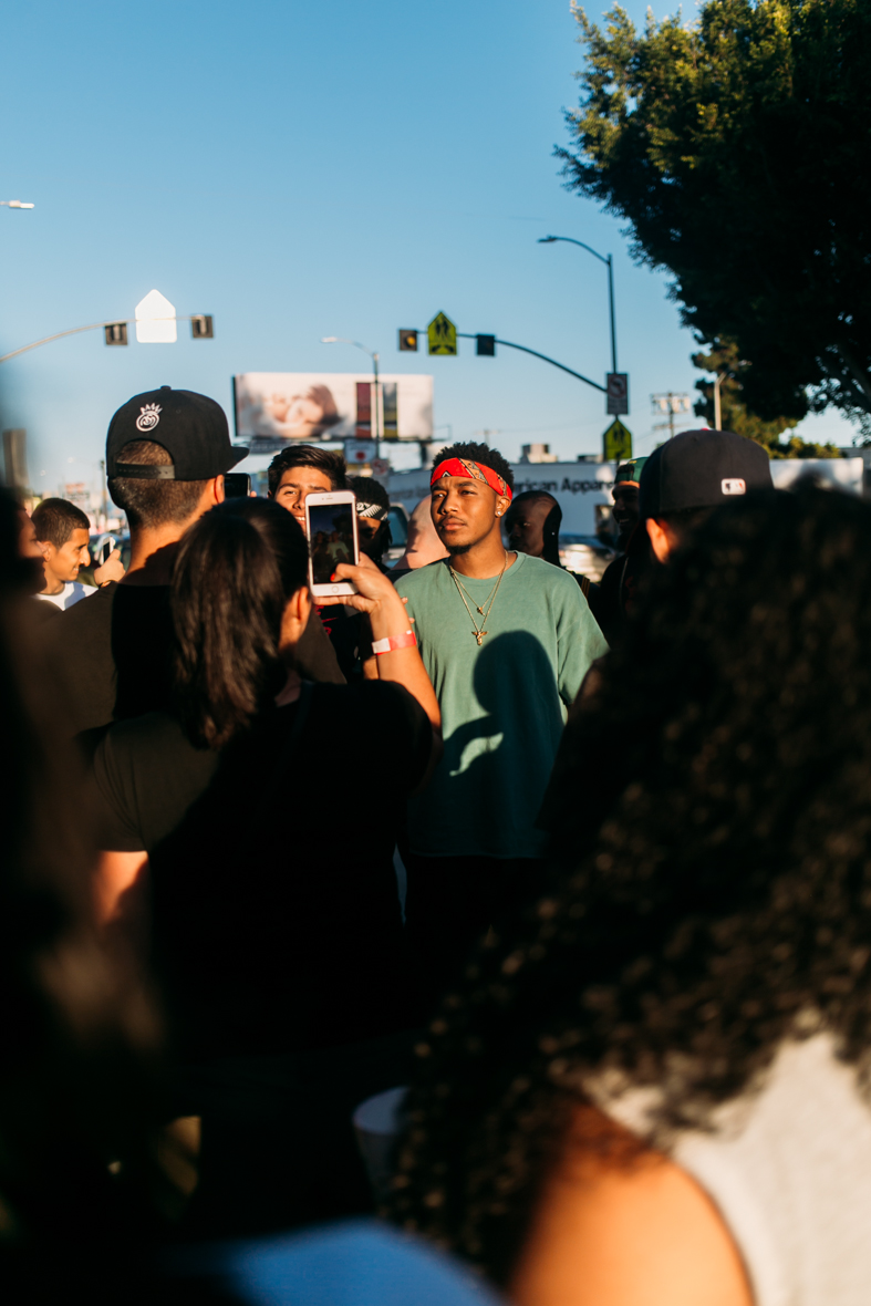 Dreamville artist Cody Macc (Cozz) at FIENDSHOP LA (April 2) on Melrose. / Photo: © Kayla Reefer for SUSPEND Magazine