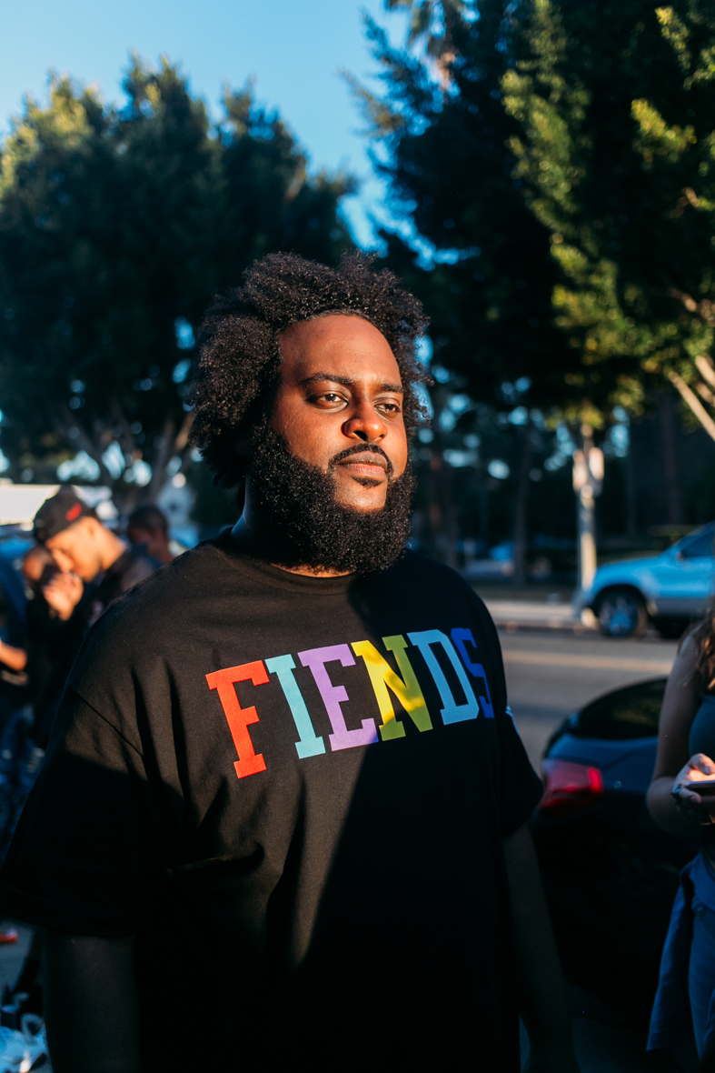 Bas at FIENDSHOP LA (April 2) on Melrose. / Photo: © Kayla Reefer for SUSPEND Magazine