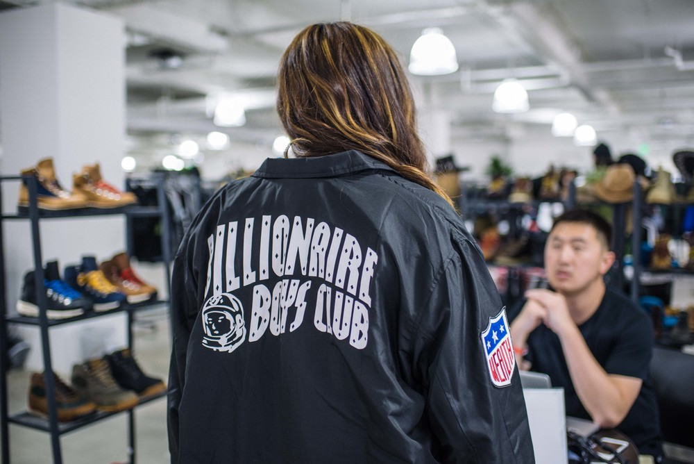 Hannah wearing Billionaire Boys Club at the LA Men's Market at CMC. / Photo: © Diane Abapo for SUSPEND Magazine
