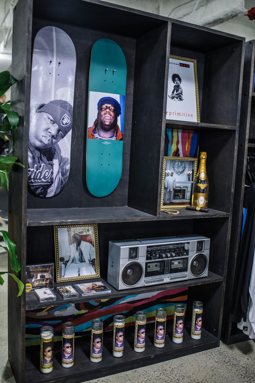 Biggie shrine at Primitive Apparel booth at LA Men's Market at CMC. / Photo: © Diane Abapo for SUSPEND Magazine