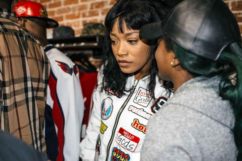 "Keke Palmer at Kamaiyah's ""A Good Night In The Ghetto"" listening party (April 1). / Photo: © Diane Abapo for SUSPEND Magazine."