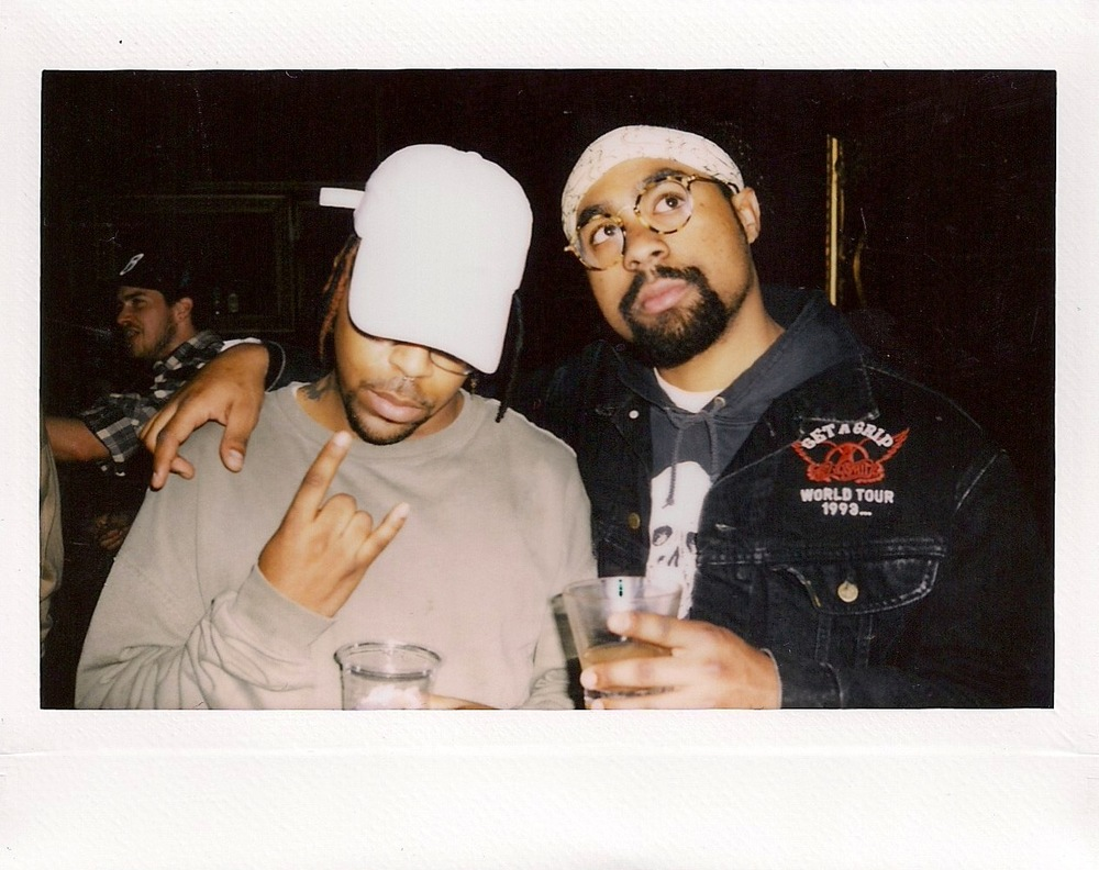 Azizi Gibson and Hugh Augustine / Photo © FriendsOnly™ Club at the SUSPEND ISSUE 06 Release (Feb 11).